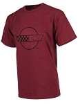 C4 Corvette 1984-1996 Splat T-Shirt - Burgundy