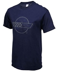C4 Corvette 1984-1996 Splat T-Shirt - Navy Blue