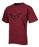 C5 Corvette 1997-2004 Splat T-Shirt - Burgundy