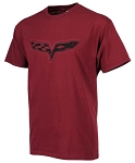 C6 Corvette 2005-2013 Splat T-Shirt - Burgundy