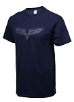 C6 Corvette 2005-2013 Splat T-Shirt - Navy Blue