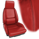 C4 Corvette 1984-1988 Accent Stitched Leather Seat Cover Replacements