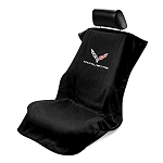 C7 Corvette Stingray / Z06 / Grand Sport 2014+ Seat Armour Seat Cover Towel - Corvette Script