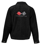 C3 Corvette 1968-1982 Extra Long Suede Bomber Jacket - Black
