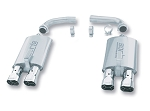 C4 Corvette 1984-1991 Borla Touring Rear Section Exhaust w/ Intercooled Stainless Tips