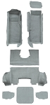 C5 Corvette 1998-2004 TruVette Carpet Replacement Kits - Convertible