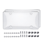 C3 C4 C5 C6 C7 Corvette 1968-2014+ Clear Bubble License Plate Shield w/ Hardware