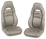 C5 Corvette 1997-2004 OE-Style Leather Seat Covers - Sport Seat