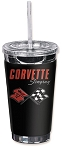 C3 C4 Corvette 1968-1996 Crossed Flags Logo 16oz To Go Cup
