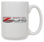 C6 Corvette Z06 2006-2013 Logo 15oz Coffee Mug