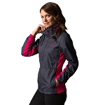 C7 Corvette 2014+ Ladies Colorblock Jacket - Gray & Rose