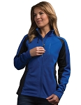 C7 Corvette Stingray 2014+ Ladies Debossed Colorblock Jacket - Royal Blue & Black
