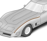 C3 Corvette 1980-1982 ACI Fiberglass Fender to Hood Surround Bonding Strips