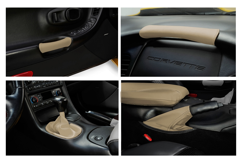 C5 Corvette 1997 2004 Interior Leather Accent Kit For Automatic Transmissions Color Options