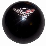 C5 Corvette 1997-2004 Black Shift Knob w/ C5 Crossed Flags