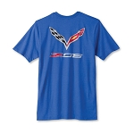 C7 Corvette Z06 2015-2019 Logo T-Shirt - Heather Blue