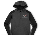 C7 Corvette 2014+ Color Block Quarter-Zip Fleece Hoodie