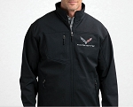C7 Corvette 2014+ Softshell Jacket w/ Full Color Flag Logo