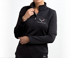 C7 Corvette 2014+ Ladies Under Armour Quarter-Zip Pull-Over - Asphalt Black