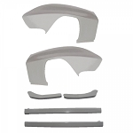 C2 Corvette 1963-1967 Widened Front Fender Kit - 1in Wider
