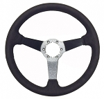 C3 Corvette 1968-1982 14in Black Ultra Suede Steering Wheel