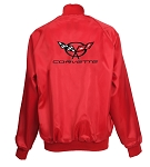 C5 Corvette 1997-2004 Satin Jackets - Red