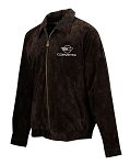 C4 Corvette 1984-1996 Extra Long Suede Bomber Jacket - Brown