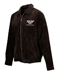 C5 Corvette 1997-2004 Extra Long Suede Bomber Jacket - Brown