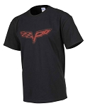 C6 Corvette 2005-2013 Splat T-Shirt - Black