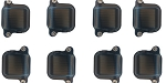 C4 C5 C6 Corvette 1984-2013 L98/LS1/LS3 Black Billet Ignition Coil Cover - 8 Pack