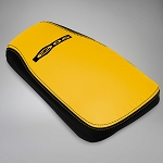 C5 Corvette Z06 2001-2004 Logo Leather Console Covers - Two-Tone Color Options