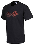 C3 Corvette 1968-1982 Splat T-Shirt - Black