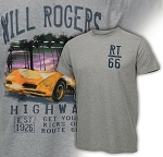 C3 Corvette 1968-1982 Watercolor Route 66 T-Shirts