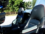C5 Corvette 1997-2004 Leather Headrest Cover - Two Tone