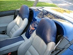 C6 Corvette 2005-2013 Leather Headrest Cover - Two Tone