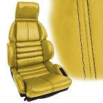 C4 Corvette 1989-1990 Accent Stitched Leather Seat Cover Replacements - Sport