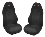C5 Corvette 1997-2004 Neoprene Seat Covers with Logo - Multiple Options