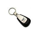 C5 Corvette 1997-2004 Leather Key Chain w/ Logo - Red or Black
