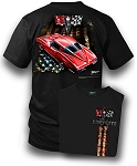 C2 Corvette 1963 Red Patriotic Split Window T-Shirt