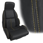 C4 Corvette 1989-1990 Accent Stitched Leather Seat Cover Replacements - Standard