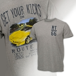 C5 Corvette 1997-2004 Watercolor Route 66 T-Shirts