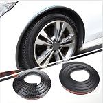Carbon Fiber Style Wheel Well Fender Trim Molding - 2 PC