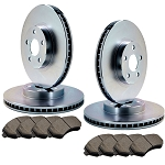 C4 Corvette 1984-1987 Replacement Front & Rear Brake Rotor & Pad Kit