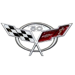 C5 Corvette 2003 50th Anniversary Emblem Metal Sign