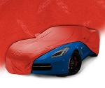 C7 Corvette Stingray/Z06/Grand Sport 2014-2019 GM Indoor Crossed Flag Logo Car Cover