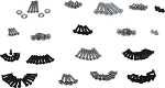 C3 Corvette 1968-1982 Interior Screw Sets
