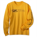 C6 Corvette 2006-2013 Long Sleeve Z06 Shirt - Gold