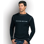 C7 Corvette 2014+ Corvette Signature Thermal Shirt - Black