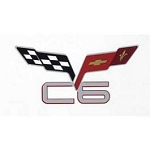 C6 Corvette 2005-2013 Crossed-Flags & C6 Corvette Decal - Size Options