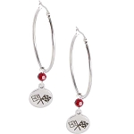 C3 C4 C5 C6 C7 Corvette 1968-2014+ Oval Stainless Hoop Earrings - Multiple Color Options